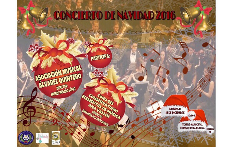 La banda «Álvarez Quintero» y el coro del conservatorio se unen para ofrecer un concierto de Navidad