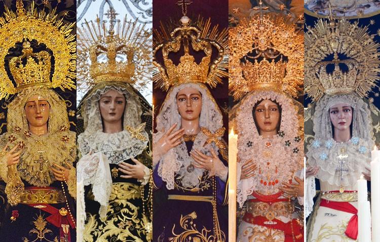 Cinco besamanos en Utrera para conmemorar el día de la Inmaculada Concepción