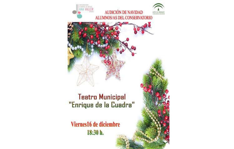 Concierto de Navidad de los alumnos y profesores del conservatorio