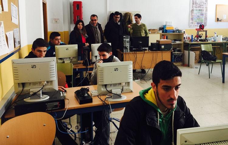 Visita del alcalde a los institutos José María Infantes y Ruiz Gijón