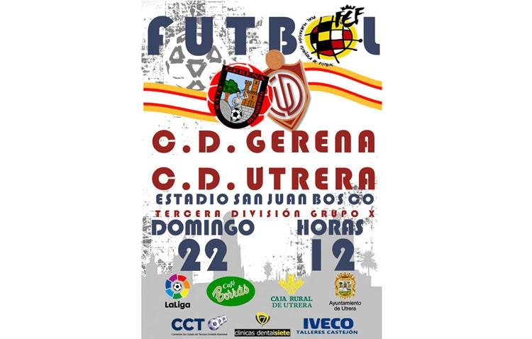 C.D. UTRERA – C.D.GERENA: Los locales obligados a ganar para no caer del «top ten» de la tabla