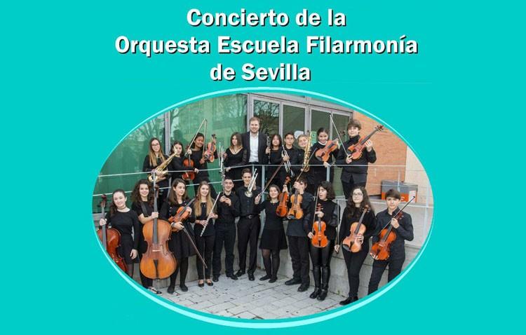 Concierto de la Orquesta Escuela Filarmonía de Sevilla en el teatro