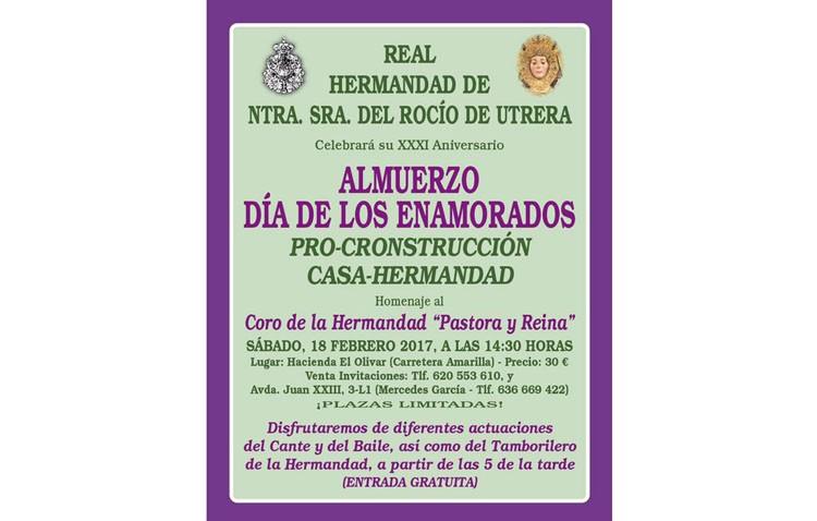 La hermandad del Rocío organiza su almuerzo anual pro-construcción de la casa-hermandad