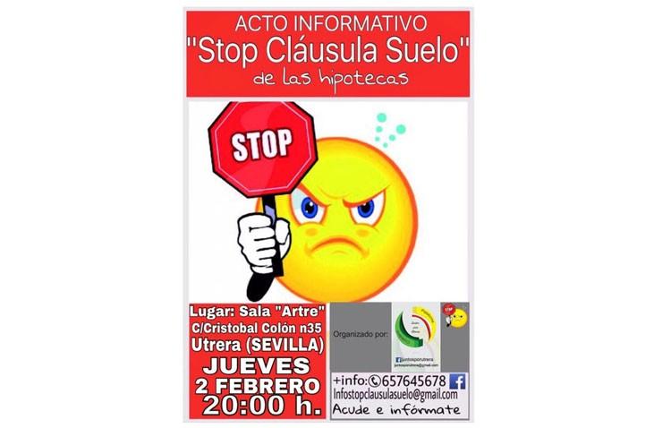 «Juntos por Utrera» organiza un acto informativo sobre las cláusulas suelo