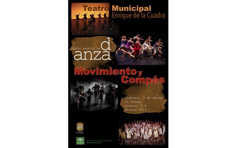 El Centro Andaluz de Danza llega al teatro de Utrera con el espectáculo «Movimiento y compás»