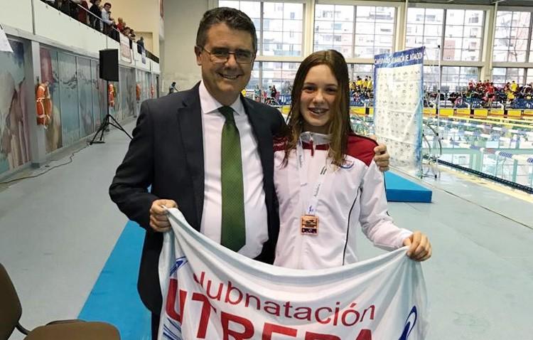 La nadadora Eloísa Payán se proclama campeona de Andalucía en 200 metros espalda