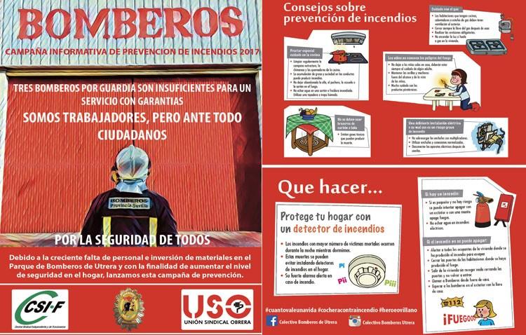La «falta de personal y materiales» obliga a los Bomberos a promover una campaña de prevención de incendios en el hogar