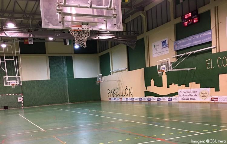 Los problemas en los pabellones de Consolación y Vistalegre obligan al Club Baloncesto Utrera a jugar con urgencia en El Coronil