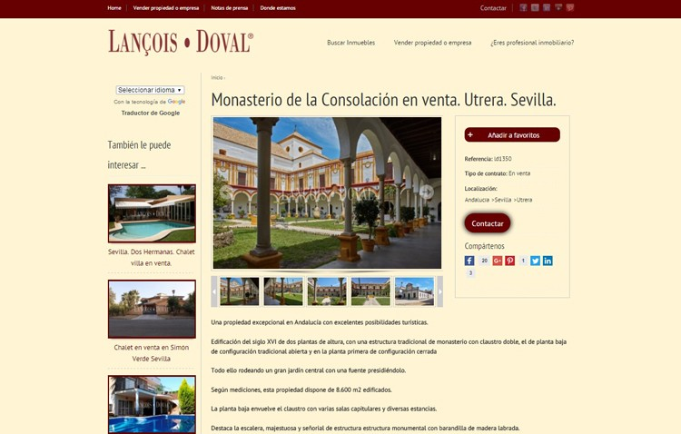 Si tienes 5,5 millones de euros, el monasterio de Consolación puede ser tuyo