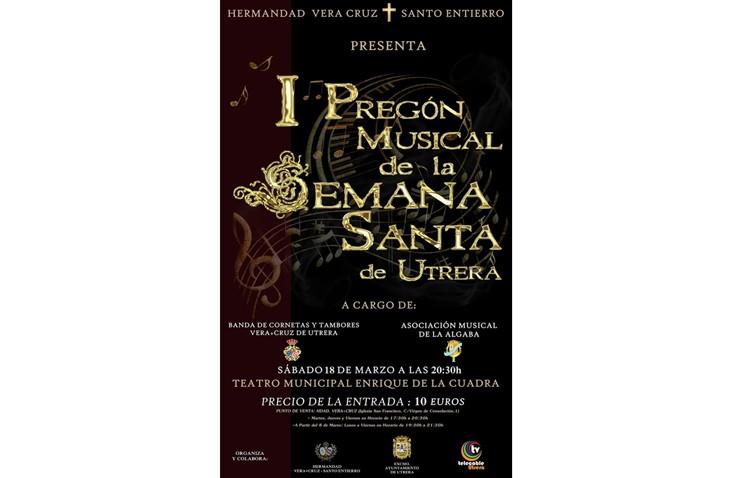 Suspendido el pregón musical de la Semana Santa de Utrera organizado por la hermandad de la Vera-Cruz