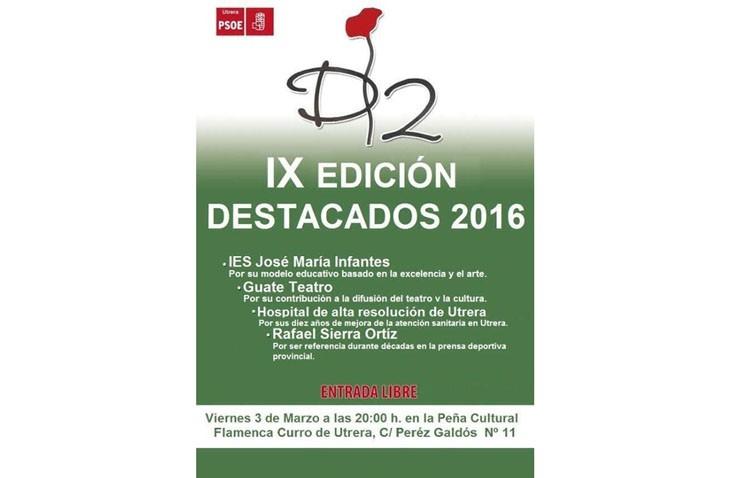El PSOE entrega este viernes sus premios «Destacados»