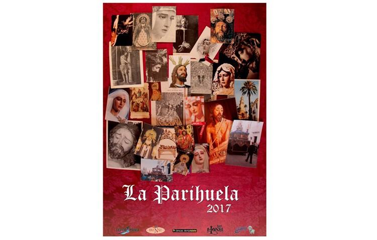 Un mural con estampitas ilustra el cartel de la tertulia «La Parihuela»