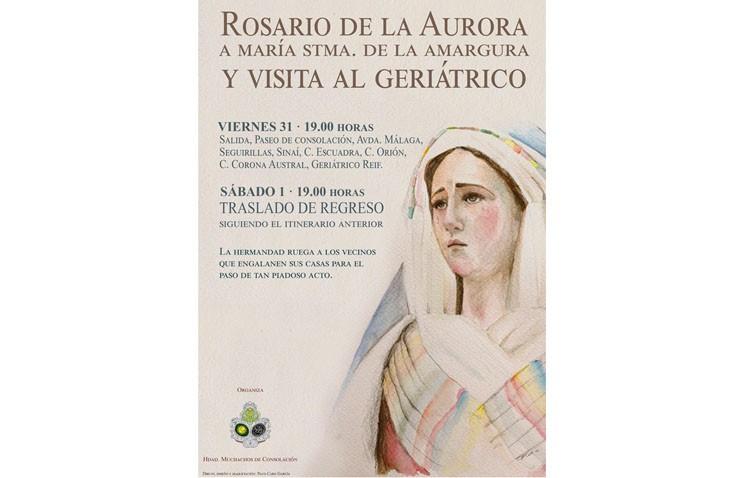 Los Muchachos de Consolación reprograman la visita de la Virgen de la Amargura al geriátrico de La Mulata