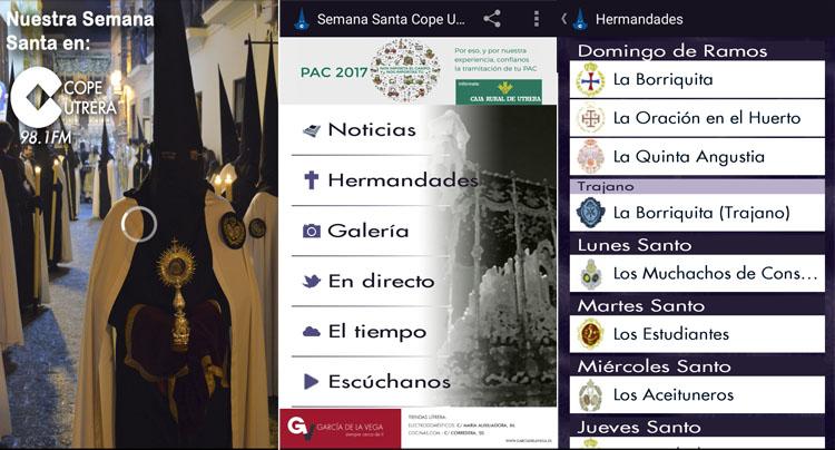Toda la información para estas fechas, en la palma de la mano gracias a la aplicación gratuita «Semana Santa COPE Utrera»