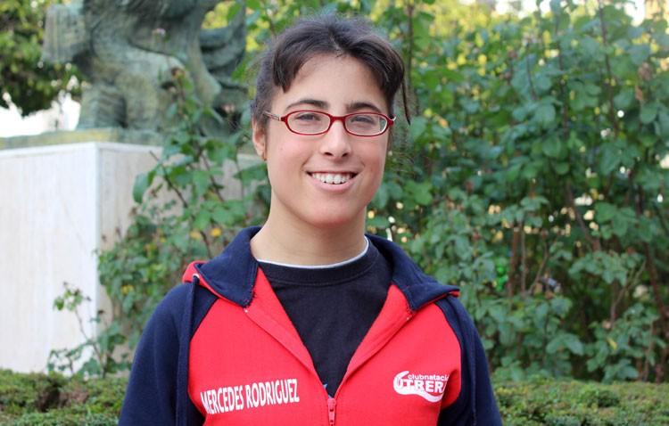 La utrerana Mercedes Rodríguez, una nadadora que lucha para participar en los juegos paralímpicos