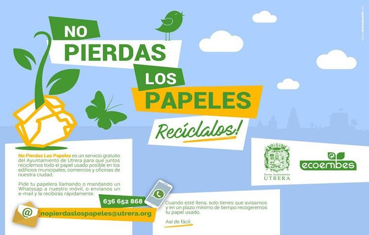Un servicio gratuito de reparto y recogida de papeleras para papel