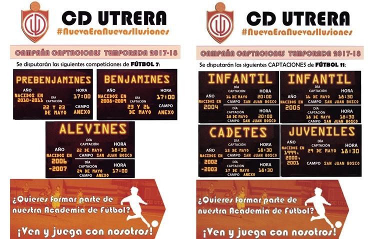 El C.D. Utrera inicia la campaña de captaciones para la próxima temporada