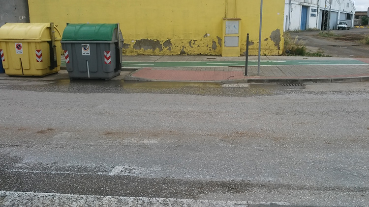 Falta de pintura en los pasos de peatones