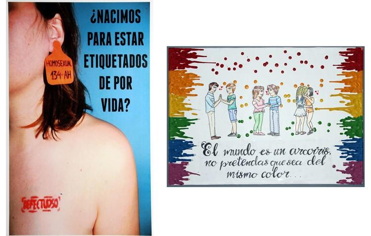 Carmen Francia y Ninfa Martínez, ganadoras del certamen de carteles sobre la diversidad afectivo-sexual