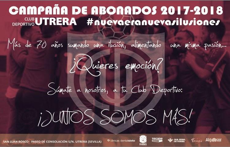 El C.D. Utrera comienza su nueva campaña de abonos para la temporada 2016/2017
