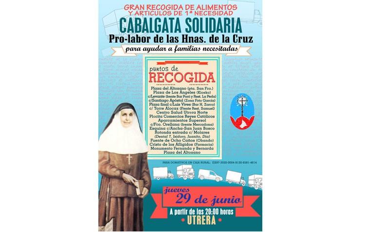 Una cabalgata recogerá alimentos no perecederos y artículos de primera necesidad para las Hermanas de la Cruz