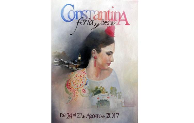 El joven utrerano Paco Caro, autor del cartel de la feria de Constantina