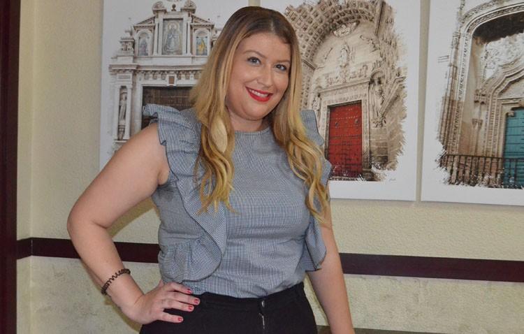 La joven Sandra Segovia, representante de Utrera en «Miss Curvys»