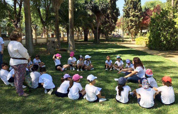 Talleres de educación ambiental para los escolares utreranos en el parque de Consolación