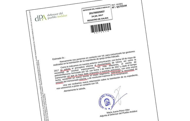 El gobierno local niega al Defensor del Pueblo Andaluz la información solicitada sobre el paseo de Consolación