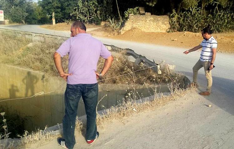 El PA denuncia el «enorme peligro» de caídas en el desvío del Calzas Anchas