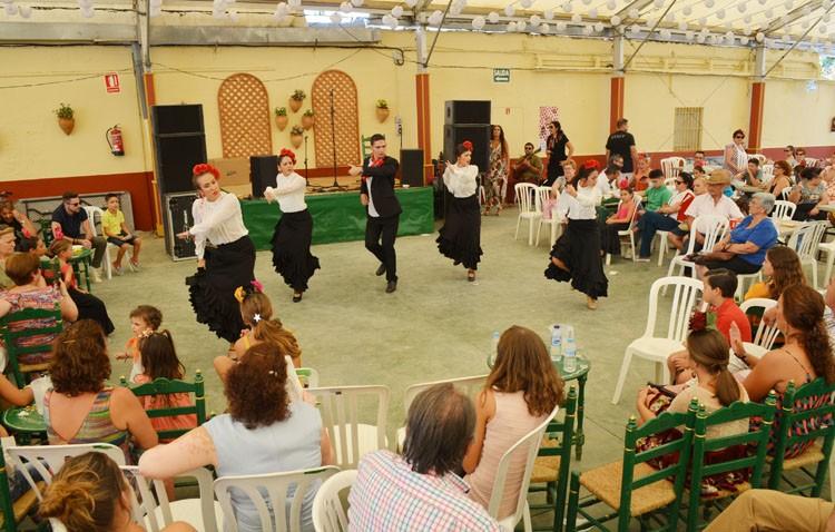 Un «flashmob» de bulerías en la Feria de Utrera