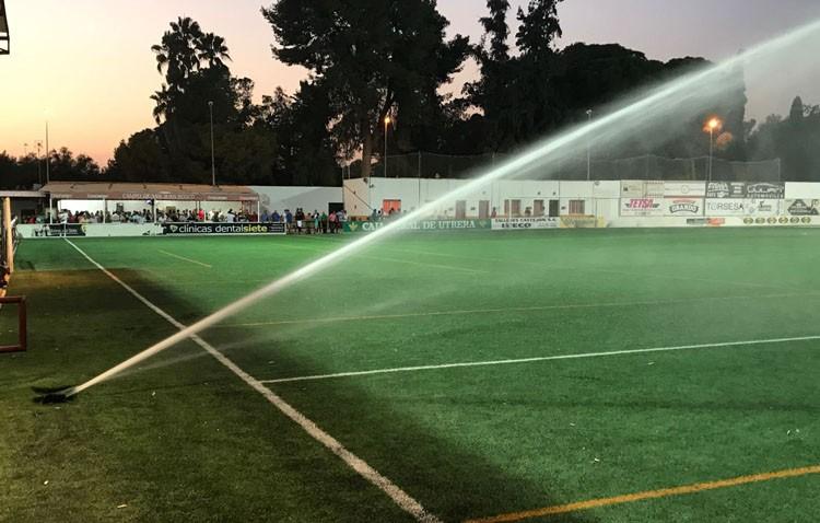 Estrenado el nuevo sistema de riego en el estadio San Juan Bosco