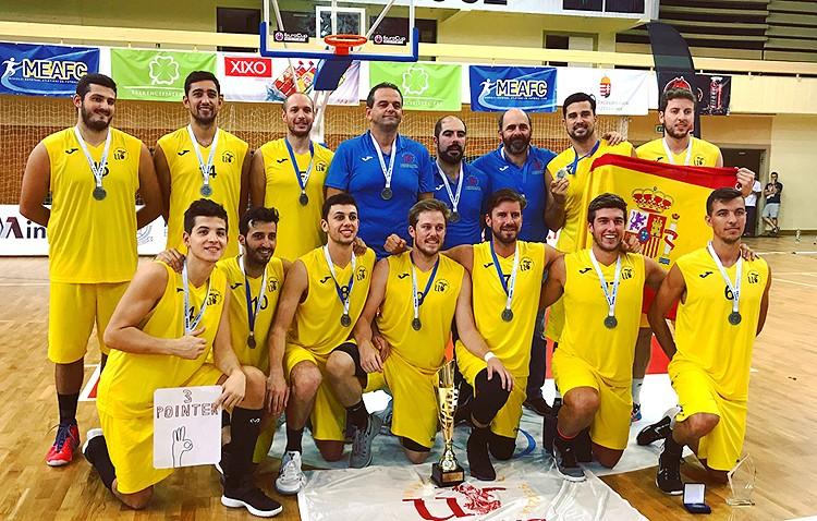 Tres utreranos, subcampeones de Europa de baloncesto con la Universidad de Sevilla