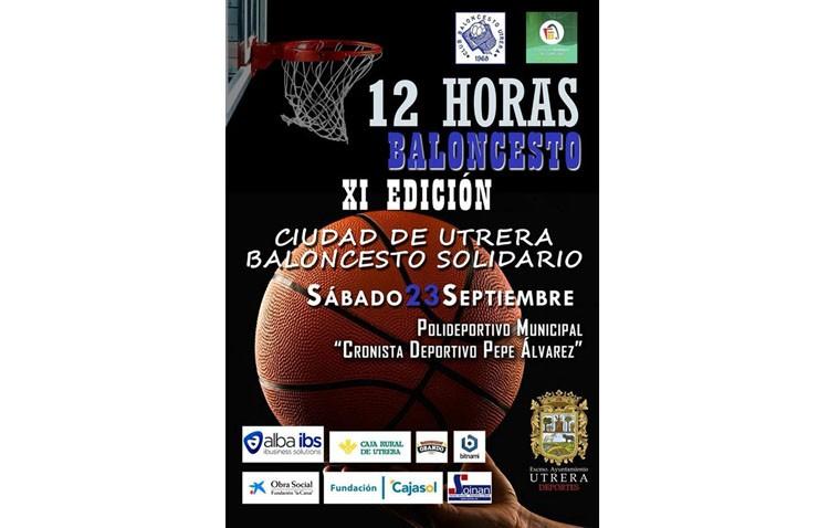 Sábado de baloncesto solidario en Consolación con las 12 horas del C.B. Utrera