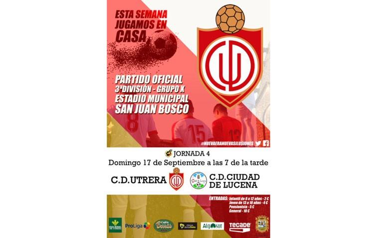 C.D. Utrera – Ciudad de Lucena: Partido para recuperar la moral