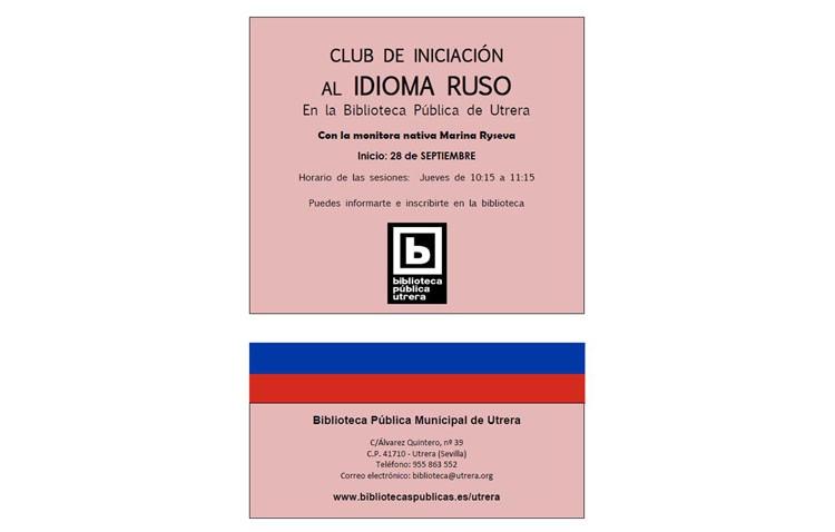 Club de iniciación al idioma ruso en la biblioteca