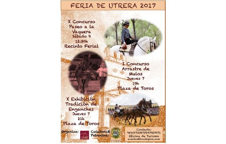 Concurso de arrastre de mulos y exhibición de enganches