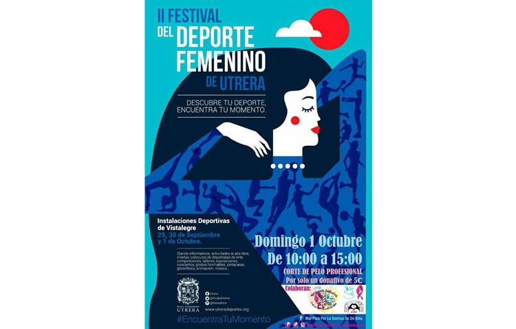 Cortes de pelo solidarios en el Festival del Deporte Femenino