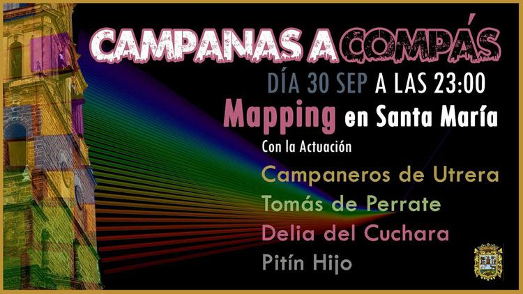 Flamenco, campanas, garrochistas y espectáculo audiovisual, ingredientes de un «mapping» en la torre de Santa María