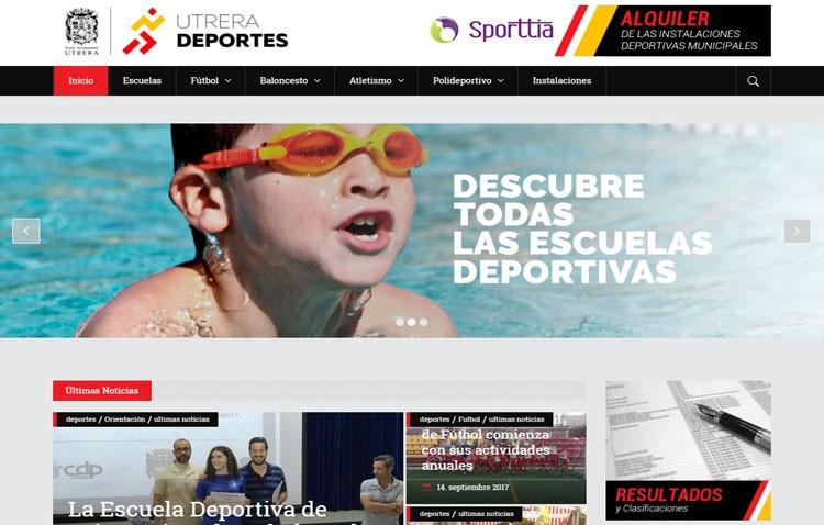 El Ayuntamiento pone en marcha una página web para dar cobertura informativa a toda la oferta deportiva de Utrera