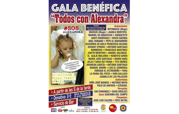 Más de una treintena de actuaciones en una gala benéfica para ayudar a una niña que padece una enfermedad rara