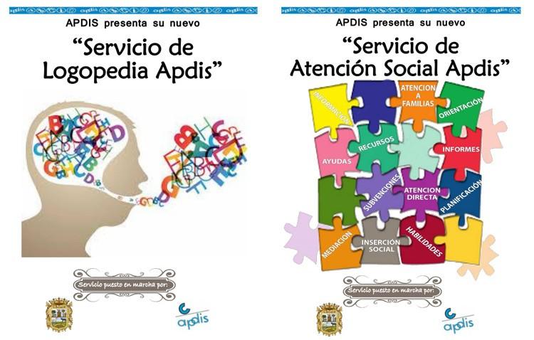 Servicios de atención y de logopedia en la asociación Apdis