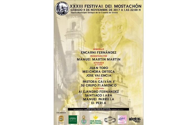 Noche flamenca en el teatro de Utrera con el Festival del Mostachón