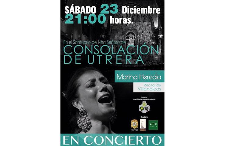 Las entradas para el recital navideño de Marina Heredia, en la hermandad de los Muchachos de Consolación