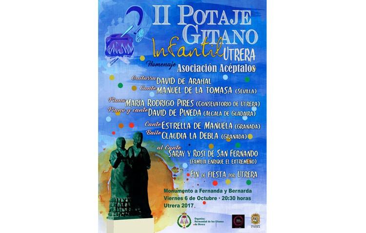 El Potaje Gitano Infantil rendirá homenaje a la asociación «Acéptalos»