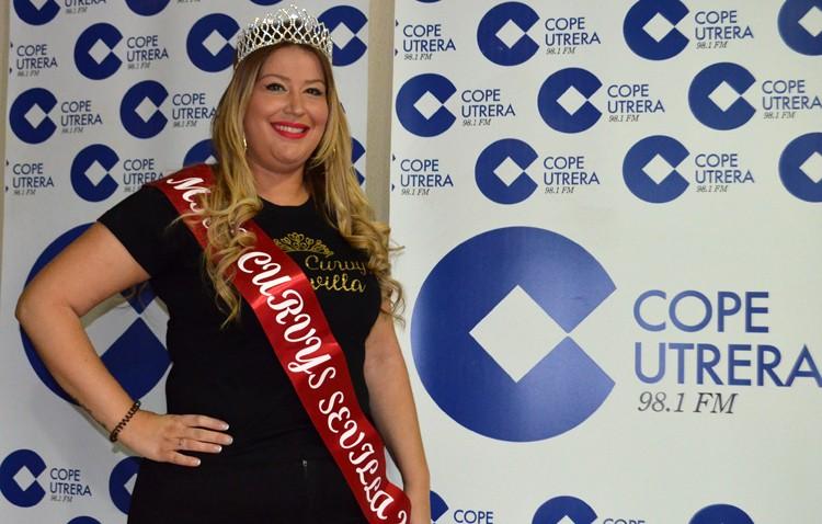 Triunfo de la utrerana Sandra Segovia, que se proclama ganadora del certamen de belleza «Miss Curvys Sevilla» (VÍDEO)