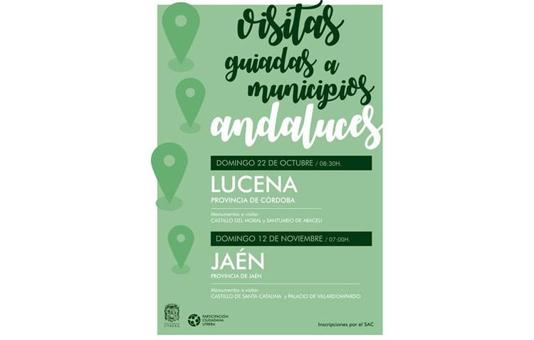 Un nuevo programa de visitas a municipios andaluces llevará a los utreranos a Lucena y Jaén
