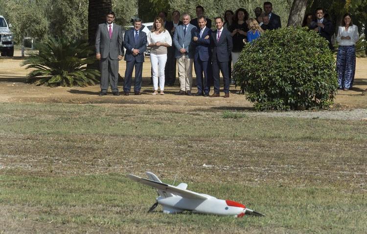 Utrera acoge un hito mundial, con el primer vuelo de un dron controlado a través del móvil con tecnología 4G