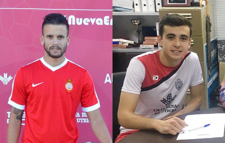 Dos jugadores del C.D. Utrera, en la XI Copa de las Regiones UEFA