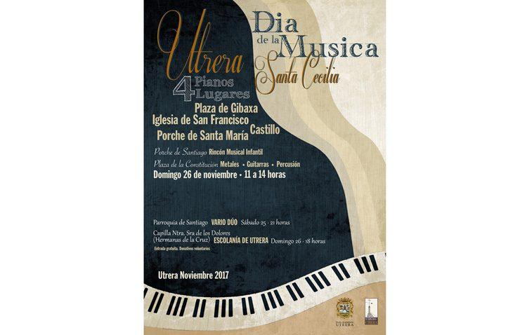 Cuatro pianos «callejeros» y un concierto de la Escolanía de Utrera, protagonistas musicales de este domingo